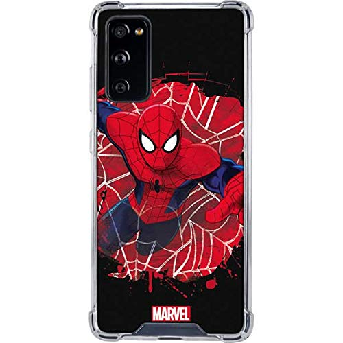 Skinit Clear Phone Case Compatible with Galaxy S20 FE - Officially Licensed Marvel Spider-Man Lunges Design