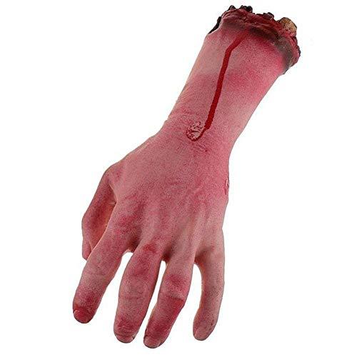 Simulación de brazos humanos para Halloween, sangrienta mano rota realista, juguete para fiestas, accesorios para el hogar y Halloween