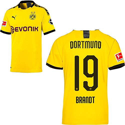 PUMA Borussia Dortmund BVB Heimtrikot 2019 2020 Home Trikot Sponsor BL Logo Herren Julian Brandt 19 Gr L