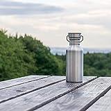 Pure Design – 750 ml Edelstahl Trinkflasche in Geschenk Verpackung - 3