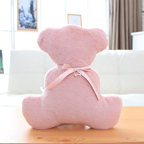 Peluches, 35cm Cute Shadow Bear Stuffed Pillows, Funny Animal Bear Plush Toys, Regalos de cumpleaños para niños, Regalos para Novias 35cm Deep Pink