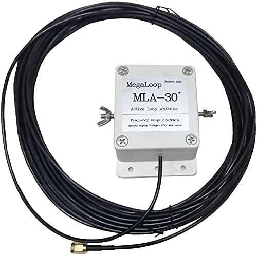 WXking MLA-30+ Plus - Antena de bucle de actualización activa, 100 KHz-30 MHz, radio de onda corta (color: blanco) (color: blanco)