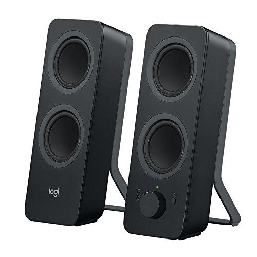 Logitech Z207 Kabellose PC-Lautsprecher, Bluetooth, Stereo Sound, 10 Watt Spitzenleistung, 3,5 mm Eingang, Kopfhörerbuchse, Easy-Switch Feature, EU Stecker, PC/TV/Tablet/Handy - schwarz