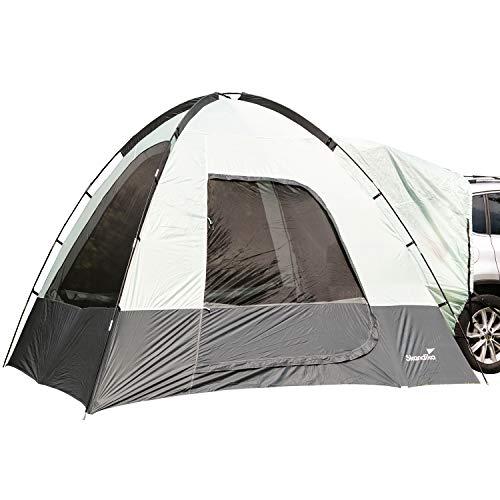 skandika Heckzelt Pitea SUV | für 4 Personen, freistehend, eingenähter Zeltboden, 2,2 m Stehhöhe, große Fenster, wasserfest, 3000 mm Wassersäule, Moskitonetze, 3 x 3 m, für Auto, CUV, Bus, Minivan