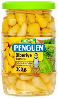 Penguen ペンギン ビベリイェピクルス 小唐辛子のピクルス 300g(固形分約170g)砂糖不使用 無添加 トルコ産 トルコのピクルス Biberiye Tursusu Pickled Small Hot Peppers