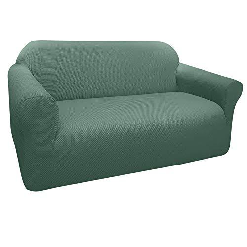 Granbest Funda de Sofá Elástica Súper Gruesa con Diseño Elegante Universal Funda Sofá 2 Plaza Antideslizante Protector Cubierta de Muebles (2 Plaza, Verde Matcha)