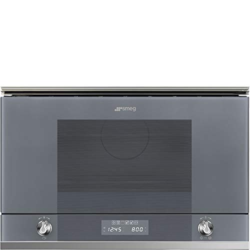 Micro ondes Grill Encastrable Smeg MP122S1 - Micro-Ondes + Grill Integrable Gris et inox - 22 litres - 850 W