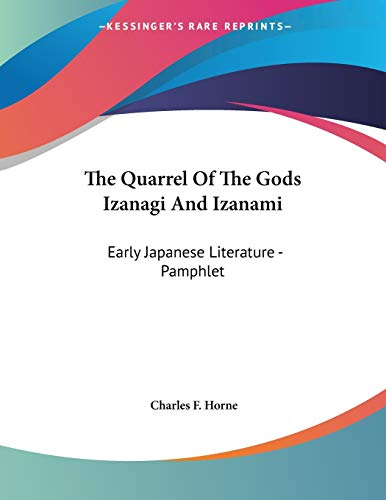The Quarrel Of The Gods Izanagi And Izanami: Early Japanese Literature - Pamphlet