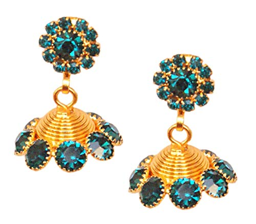 Pahal - Pendientes tradicionales de oro azul para mujer