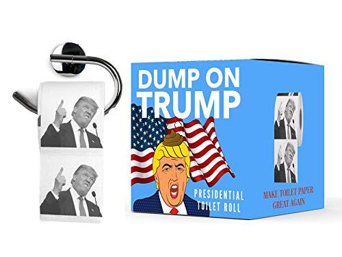 Papel Higiénico Donald Trump   Dump on Trump Toilet Paper   WC Rollo Broma