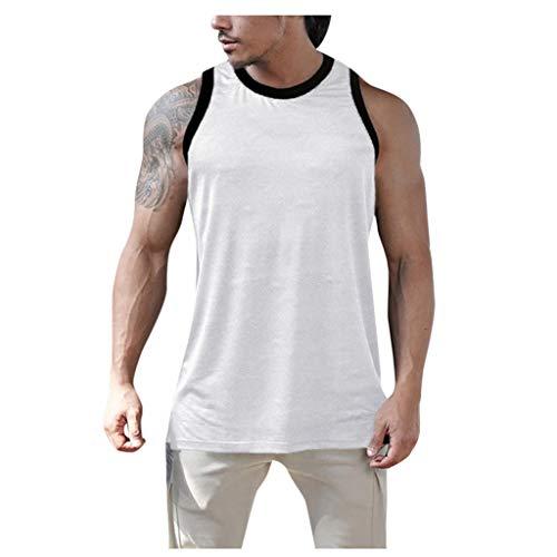 Yowablo - Yoga-Achselshirts für Herren in Weiß, Größe XL