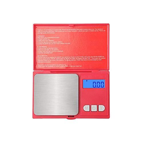 Mini elektronische weegschaal Precieze digitale weegschaal Weegmachine Sieradenweegschaal voor thuiswinkel Slaapzalen zonder batterij (1000 g / 0,1 g) 200 g 0,01 g