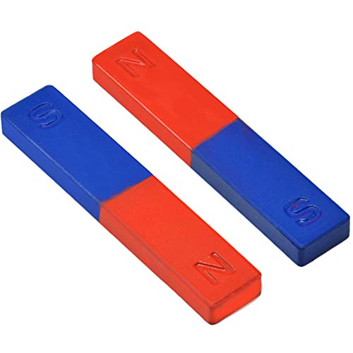 Brave669 Learning & Education Toys, 2Pcs/Set Physics Experiment Pole Teaching Tool Red Blue Painted N/S Bar Magnet,Best Gift for Your Child