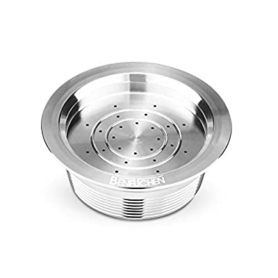 Reusable Coffee Pods Filters Capsule, Stainless Steel Refillable Coffee Capsule Cup Pods Holder Filter Set Coffee Capsules Pods Compatible with Lavazza A Modo Mio Jolie Lavazza A Modo Mio Espria