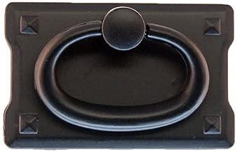 PM-222 Small Oil Rubbed Bronze Mission Style Drawer Pull Handle Antique Cabinet, Desk OR Any Vintage Furniture Reproduction Restoration Hardware + Free Bonus (Skeleton Key Badge) (6)