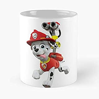 Marshall Fly Paw Patrol Classic Mug - The Funny Coffee Mugs For Halloween, Holiday, Christmas Party Decoration 11 Ounce White Jamestrond.