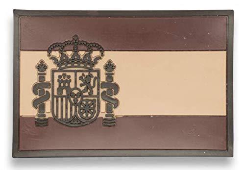 Parche ESPAÑA ARIDA (7,4 x 4,9 cm) para Caza, Pesca, Camping, Outdoor, Supervivencia y Bushcraft Albainox 09297 + Portabotellas de regalo