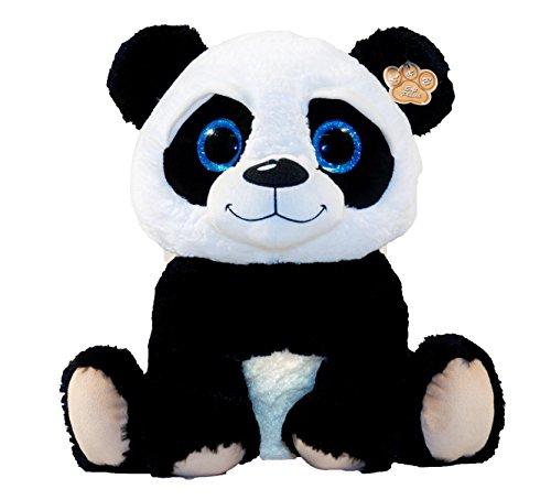 LB Peluche panda avec grands yeux Peluche assise 30 cm
