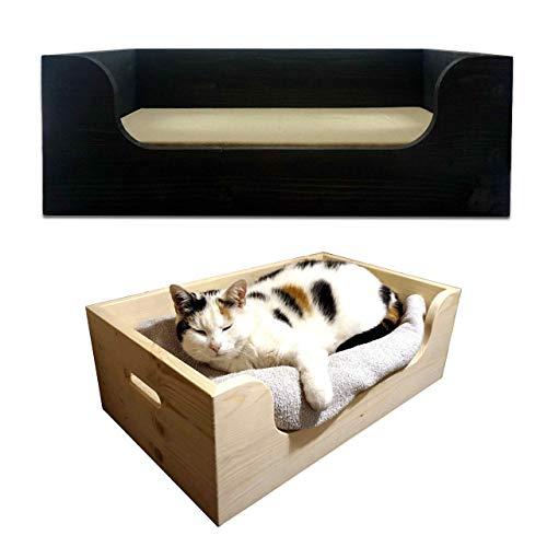 Hundebett/Katzenbett aus Holz mit Memory-Foam Matratze • Medium/Large • Puppenbett • handgefertigt in Deutschland