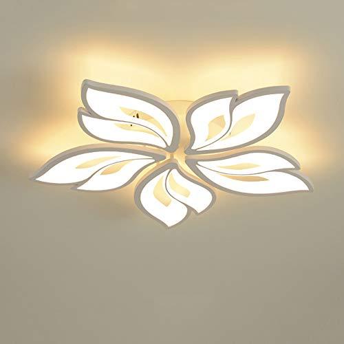 Modern LED Blume Deckenleuchte Dimmbar Weiß Deckenlampe Kreative Design Wohnzimmerlampe mit Fernbedienung Acryl Lampenschirm Schlafzimmer Esszimmer Hotelzimmer Dekorative Licht (5 Köpfe) (5 Köpfe)