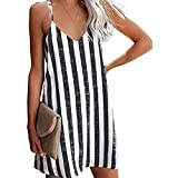 Transfronterizo 2021 Modelos Calientes Europeos Y Americanos Ebay Amazon Wish Fashion Sexy Vestido De Tirantes A Rayas Ropa De Mujer