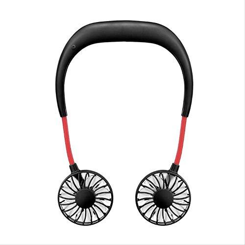 NOSSON Cuello Ventilador Portátil, Manos Libres Cuello Colgador Manos Libres USB Recargable Doble Ventilador Mini portátil