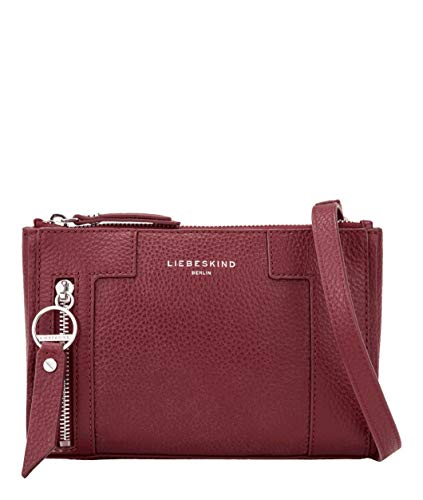 Liebeskind Berlin Damen L-Bag Crossbody Umhängetasche, red Wine, 20x14x6 cm