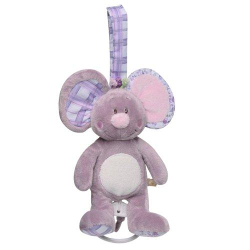 Noukies pluche dier met muziek, muis Nina, 15 cm
