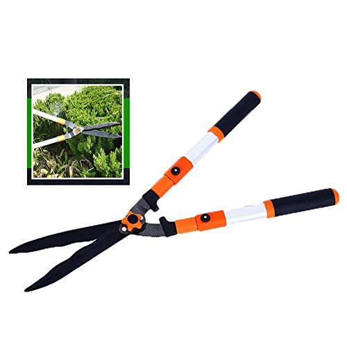 XPKZYSLJ-J heggenschaar handmatig, met gegolfde sk-5-bladen, schokdempende bumpers, heggen & struiken, lange handheggenschaar, scherp stalen lemmet, tuinwerk handmatige snoeischaar