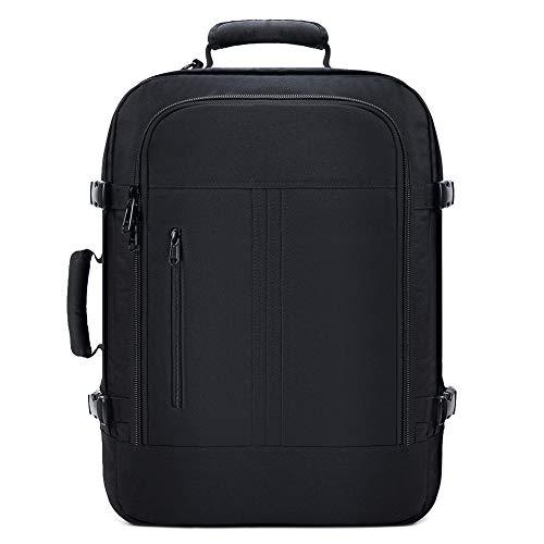 KALIDI Kabinenrucksack Rucksack leicht Reiserucksack handgepäck Flugzeug Kofferrucksack Travel Backpack für ryanair/IATA-Flug/EasyJet (schwarz)