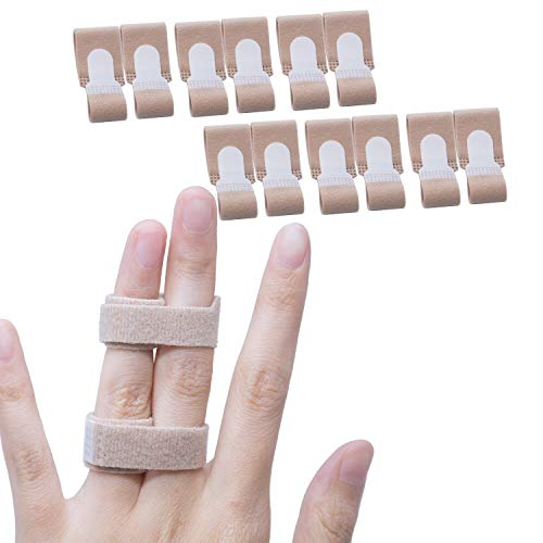 Sumifun Finger Buddy Wraps to Treat Broken 12 Pack- Finger Brace Splints for Jammed, Swollen or Dislocated Joint