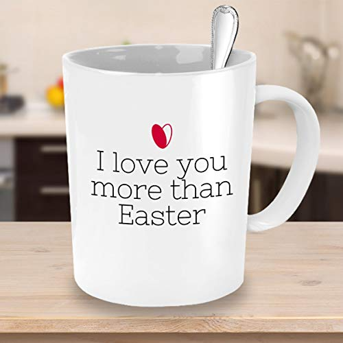 "Taza de café con texto ""I Love You More Than Semana Santa"""