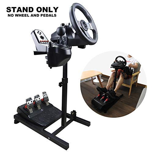 YWEN Steering Wheel Stand PRO Foldable Racing Wheel Stand Simulator for Logitech G29 G920 Thrustmaster G25 G27 G29 G920 PS3 PS4 PS5 Xbox Tilt Adjustable Ultimate Racing Experience (STAND ONLY)