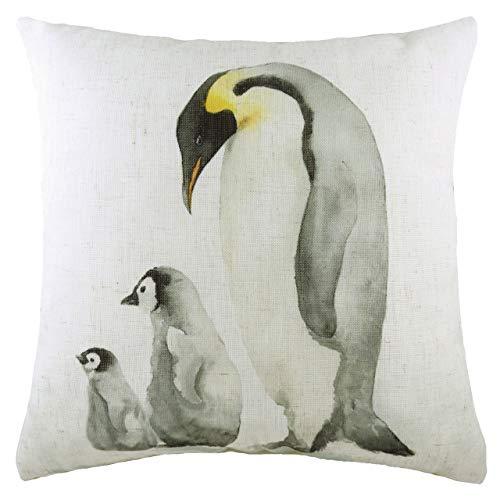 Evans Lichfield Penguin Family Polyester Filled Cushion, Multi, 43 x 33cm
