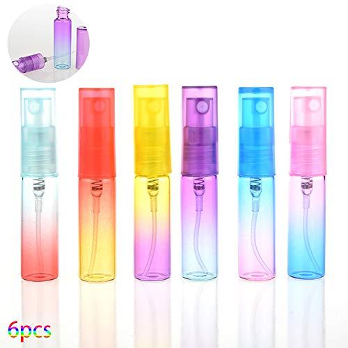 6PCS / Paquet verre 4 ml parfum dégradé de couleur Bouteilles en verre Parfum Spray Set pour utilisation Voyage (couleur aléatoire)