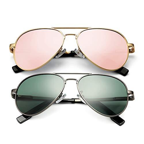 DeBuff - Gafas de sol polarizadas para niños y niñas de 5 a 18 años, cara pequeña adulta 52 mm