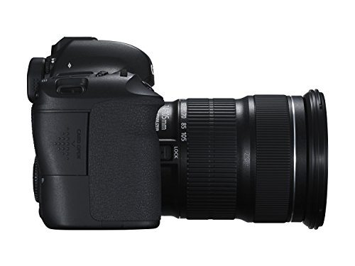 Canon EOS 6D SLR-Digitalkamera (20,2 Megapixel, 7,6 cm (3 Zoll) Display, Full-HD, CMOS-Vollformatsensor) Kit inkl. 24-105 mm IS STM Objektiv schwarz