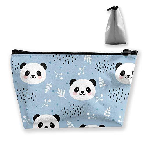 Tragbare Kosmetiktasche, niedliches Panda-Muster, multifunktionaler Druck, Trapezform,...