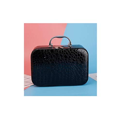 ZHAO ZHANQIANG Motif en Pierre Miroir cosmétique Pur Sac Portable étanche Lady Cosmetic Case Sac de Toilette, (Color : KLO86)