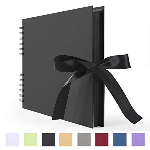 Scrapbook Photo Album DIY Scrap Book Black Pages for Wedding Guest Book Anniversary Valentines Day Gifts