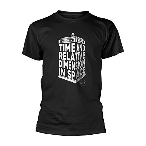 Doctor Who Tardis 3D Official Tee T-Shirt Mens Unisex (Large) Black