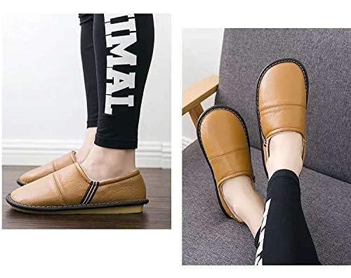 Nwarmsouth Zapatos de Interior para Exteriores transpirab,Zapatillas Piel Invierno, Calzado térmico Antideslizante-Amarillo...