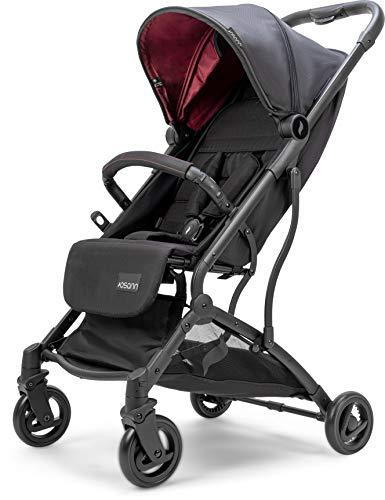 Osann Sport-Buggy Vegas – sportlicher Kinderwagen ab Geburt bis 22 kg – Buggy in Weinrot mit Sonnenverdeck LSF 50+