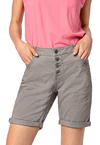 Urban Surface Damen Stoff Bermuda Shorts aus Stretch-Twill Light-Grey S