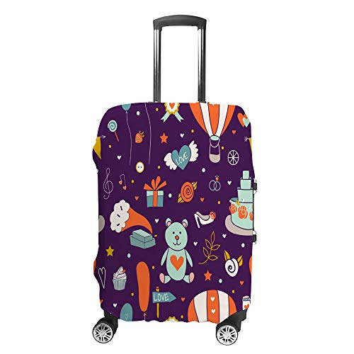 Luggage Cover Travel Anti-Scratch Suitcase Cover Baggage Protector Case Wedding Element Fit Washable Accessories Dustproof XL