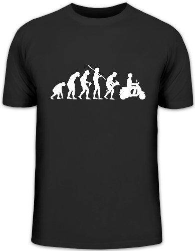 Shirtstreet24, EVOLUTION MOTORROLLER, Mofa Funshirt, Größe: L,schwarz