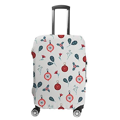 CHEHONG Funda para maleta, diseño de flores, bolas, hojas, color blanco, funda protectora lavable, fibra de poliéster elástica, resistente al polvo, se adapta a 45 – 81 cm