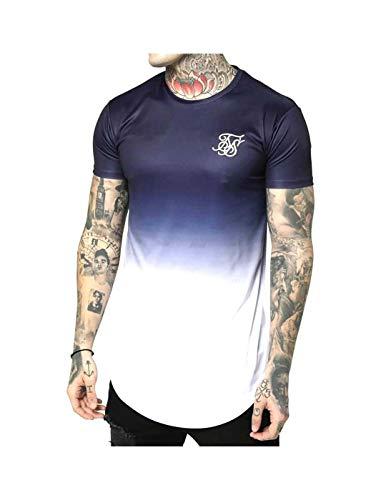 Sik Silk Camiseta S/S Curved Hem Azul M (Medium)