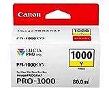 Canon PFI-1000 Y Cartucho de tinta original Amarillo para Impresora Fotográfica PRO-1000