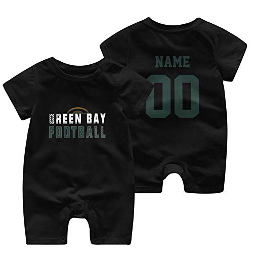Green Bay Custom Baby Onesie Bodysuit Unisex Select Any Name Any Number Baby Boys Girls Clothes
